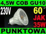 LED bulb COB 4.5W GU10 60 degrees